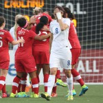 The women of Canada won a friendly match against England